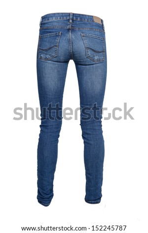 Woman jeans. Isolated on white background.
