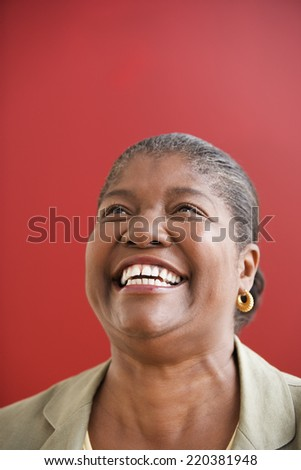 Woman laughing - stock photo