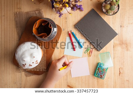 Writing paper with space for picture