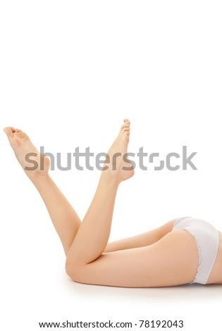 woman leg over white background - stock photo