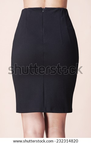 Woman legs  and pencil skirt - stock photo