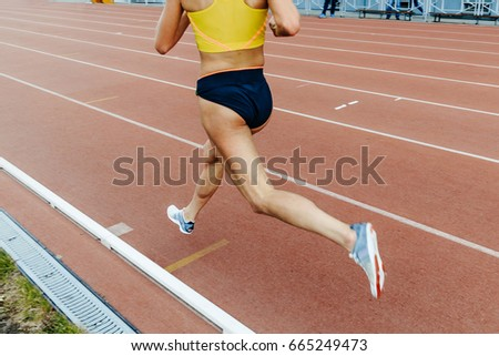 woman legs athlete runner running middle-distance competitions