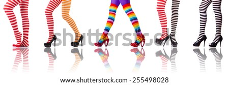 Woman legs isolated on the white background