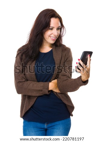 Woman look at cellphone
