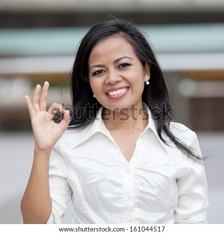 Woman looking confident and smiling