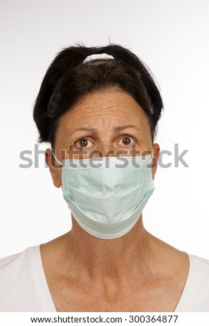 Woman looking fearful of catching something/ Fearful of Germs