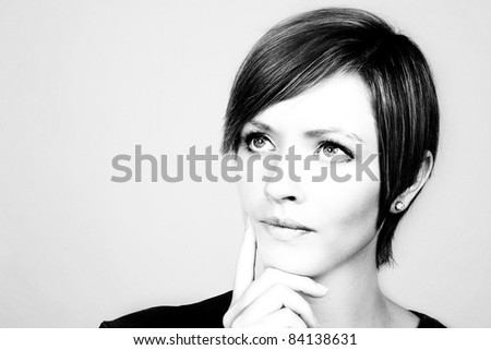 woman looking like shes deep in thought