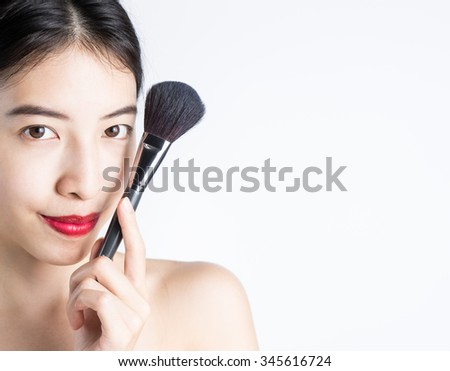 Woman Make-up With Blusher