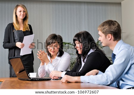 Woman making a business presentation