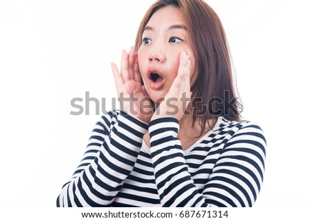 woman making funny faces