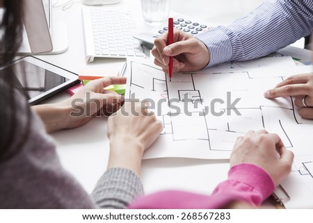 Woman Meeting Architect For House Construction