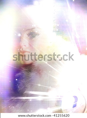 Woman Mystery Composition - stock photo
