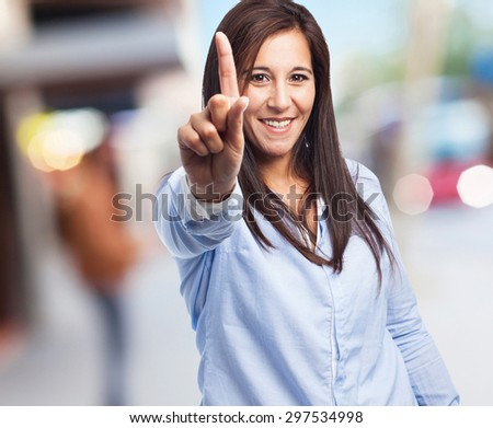 woman number one sign - stock photo