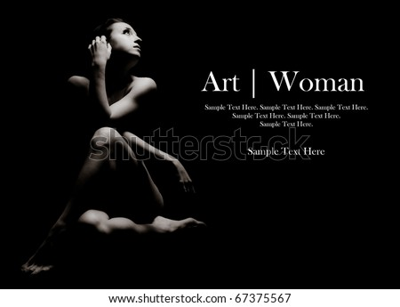 Woman of Art - stock photo