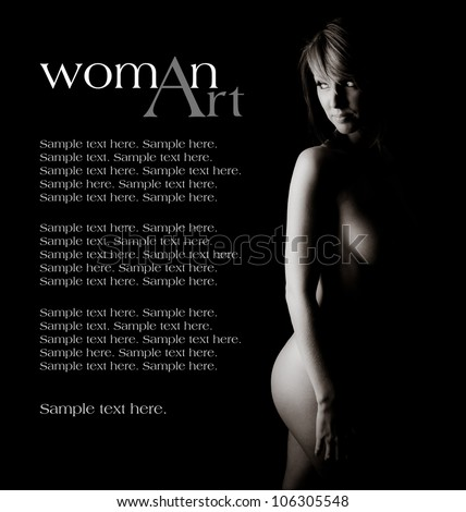 Woman of Art with Text Space to the Left - stock photo