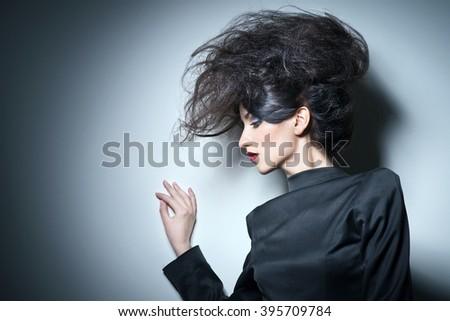 Woman on a white background - stock photo