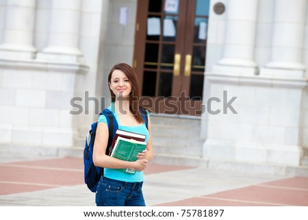 Woman on campus