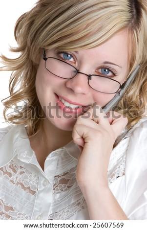 Woman on Phone - stock photo