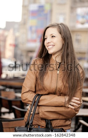 Woman on the street - stock photo