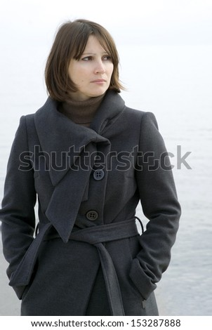 Woman, outdoors - stock photo
