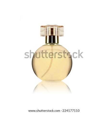 woman perfume bottle  - stock photo