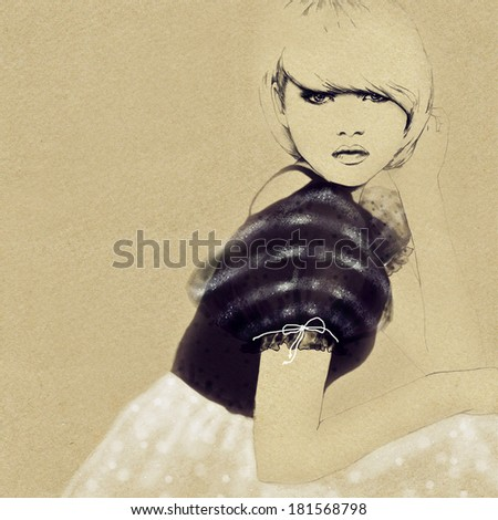 woman portrait  - stock photo