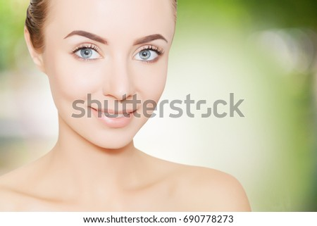 woman portrait for design and illustrating, skincare concept