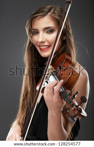 Woman portrait with violin.