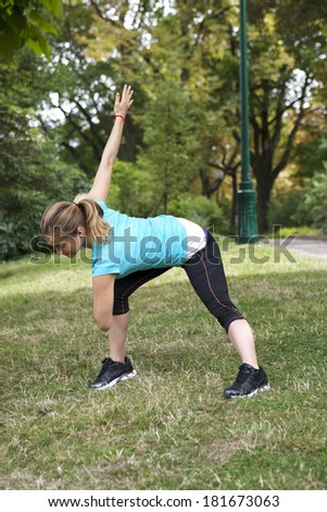 Woman Practicing A Sport