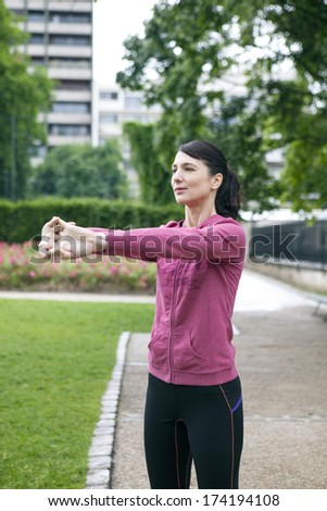 Woman Practising A Sport