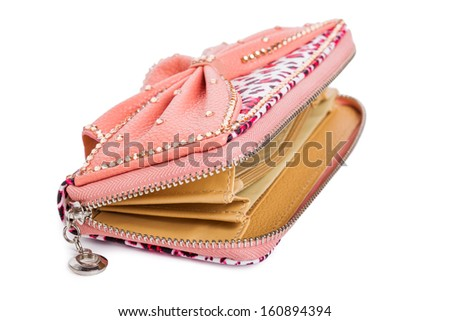 Woman purse isolated on the white background