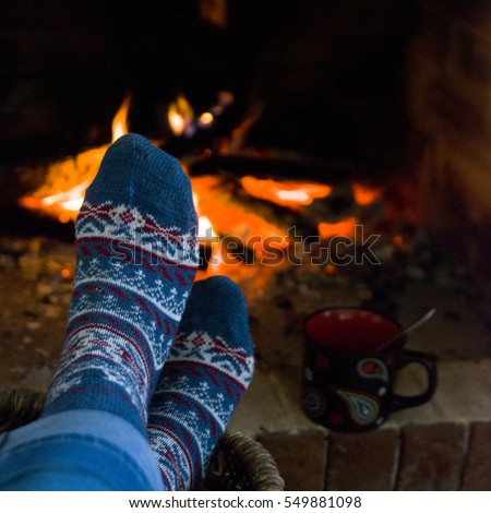 Cozy Fireplace Stock Images, Royalty-Free Images & Vectors ...