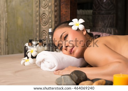 woman relaxing  in a wellness center