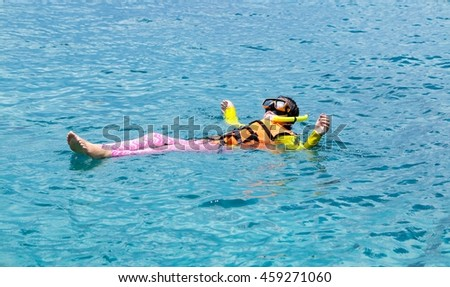 Woman relaxing time in the sea on holiday.