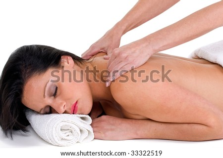 Woman relaxing with a massage