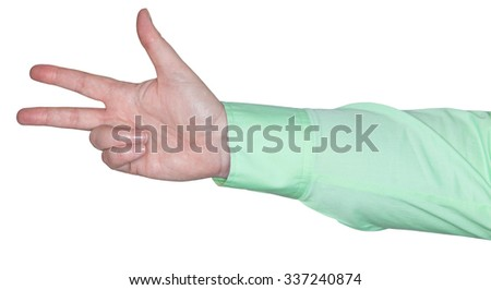 woman's arm showing a gesture - stock photo