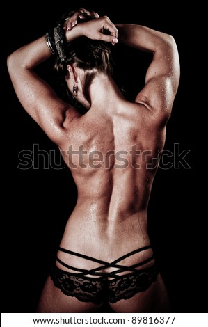 Woman's Back Muscles - stock photo