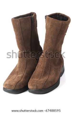 woman's chamois winter shoes