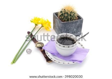 Woman's corner - isolated on white           - stock photo