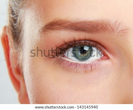 Woman's eye - stock photo