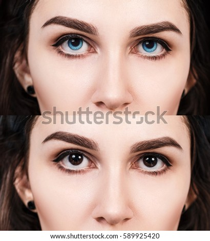 Colored Contact Lenses Stock Images, Royalty-Free Images & Vectors ...