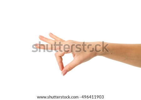 Woman's hand holding something