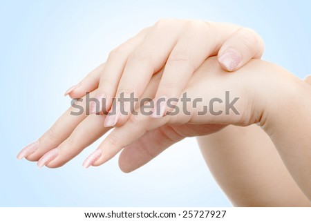 woman's hand isolated