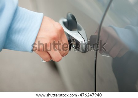 Woman's Hand with the Car Key