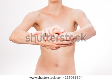 woman's hands and body