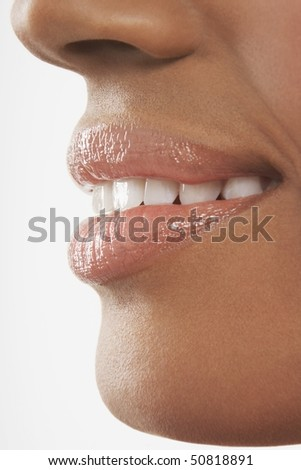 Woman's mouth, perfect teeth