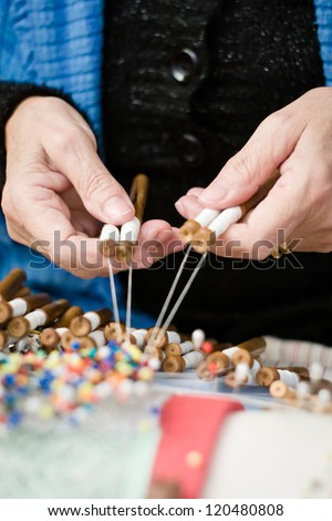 Woman seamstress - stock photo
