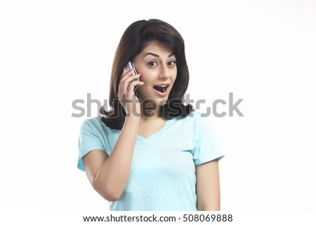 Woman shocked while talking on a mobile phone