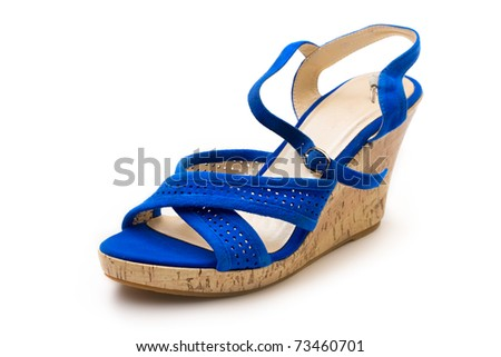 Woman shoe isolated on white - stock photo