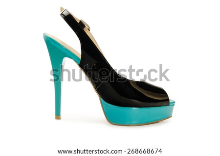 Woman shoes isolated on a white background - stock photo